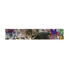 Emma In Butterflies I, Gray Tabby Kitten Flano Scarf (mini)