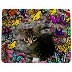 Emma In Butterflies I, Gray Tabby Kitten Jigsaw Puzzle Photo Stand (Rectangular)