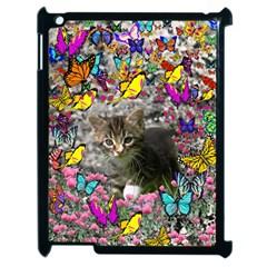 Emma In Butterflies I, Gray Tabby Kitten Apple iPad 2 Case (Black)