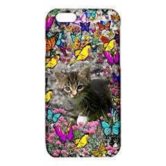 Emma In Butterflies I, Gray Tabby Kitten iPhone 6/6S TPU Case