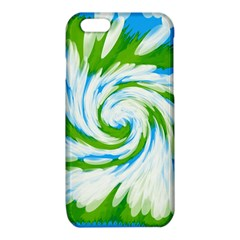 Tie Dye Green Blue Abstract Swirl iPhone 6/6S TPU Case