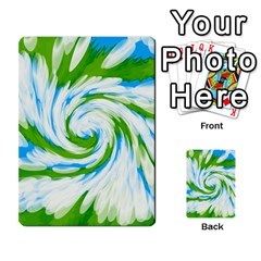 Tie Dye Green Blue Abstract Swirl Multi Purpose Cards (rectangle)