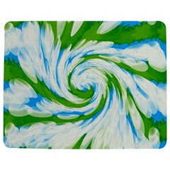 Tie Dye Green Blue Abstract Swirl Jigsaw Puzzle Photo Stand (Rectangular)