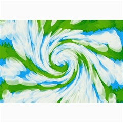 Tie Dye Green Blue Abstract Swirl Collage Prints