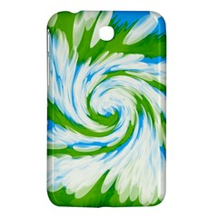 Tie Dye Green Blue Abstract Swirl Samsung Galaxy Tab 3 (7 ) P3200 Hardshell Case