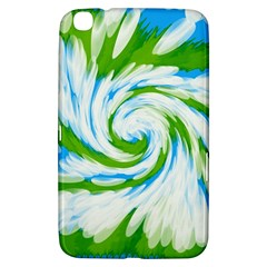 Tie Dye Green Blue Abstract Swirl Samsung Galaxy Tab 3 (8 ) T3100 Hardshell Case