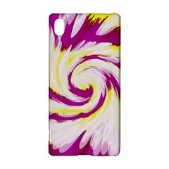 Tie Dye Pink Yellow Swirl Abstract Sony Xperia Z3+