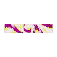 Tie Dye Pink Yellow Swirl Abstract Flano Scarf (Mini)