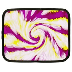 Tie Dye Pink Yellow Swirl Abstract Netbook Case (XXL)