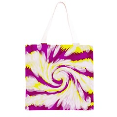 Tie Dye Pink Yellow Swirl Abstract Grocery Light Tote Bag