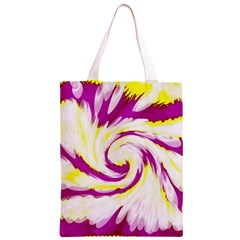 Tie Dye Pink Yellow Swirl Abstract Classic Light Tote Bag