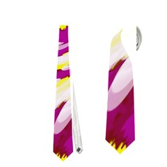 Tie Dye Pink Yellow Abstract Swirl Neckties (Two Side)