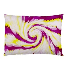 Tie Dye Pink Yellow Abstract Swirl Pillow Case