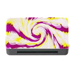 Tie Dye Pink Yellow Abstract Swirl Memory Card Reader with CF