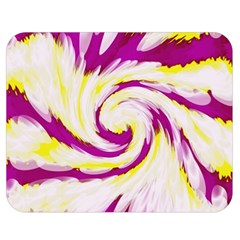 Tie Dye Pink Yellow Abstract Swirl Double Sided Flano Blanket (medium)