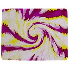 Tie Dye Pink Yellow Abstract Swirl Jigsaw Puzzle Photo Stand (Rectangular)