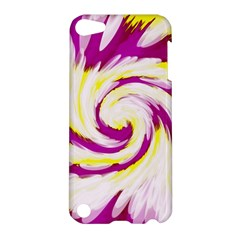 Tie Dye Pink Yellow Abstract Swirl Apple iPod Touch 5 Hardshell Case
