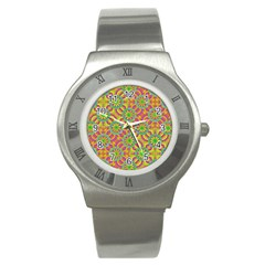 Modern Colorful Geometric Stainless Steel Watch