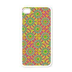 Modern Colorful Geometric Apple iPhone 4 Case (White)
