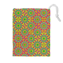 Modern Colorful Geometric Drawstring Pouches (extra Large)