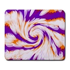 Tie Dye Purple Orange Abstract Swirl Large Mousepads
