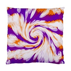 Tie Dye Purple Orange Abstract Swirl Standard Cushion Case (one Side)
