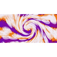 Tie Dye Purple Orange Abstract Swirl YOU ARE INVITED 3D Greeting Card (8x4)