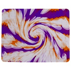 Tie Dye Purple Orange Abstract Swirl Jigsaw Puzzle Photo Stand (Rectangular)