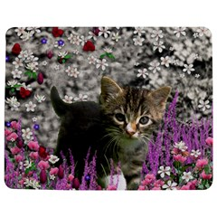 Emma In Flowers I, Little Gray Tabby Kitty Cat Jigsaw Puzzle Photo Stand (Rectangular)