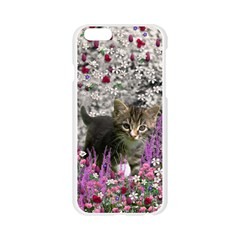 Emma In Flowers I, Little Gray Tabby Kitty Cat Apple Seamless iPhone 6/6S Case (Transparent)
