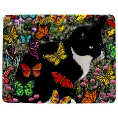 Freckles In Butterflies I, Black White Tux Cat Jigsaw Puzzle Photo Stand (Rectangular)