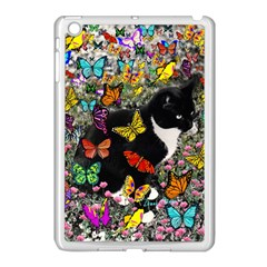 Freckles In Butterflies I, Black White Tux Cat Apple Ipad Mini Case (white)