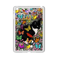 Freckles In Butterflies I, Black White Tux Cat iPad Mini 2 Enamel Coated Cases