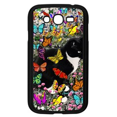 Freckles In Butterflies I, Black White Tux Cat Samsung Galaxy Grand Duos I9082 Case (black)