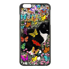 Freckles In Butterflies I, Black White Tux Cat Apple iPhone 6 Plus/6S Plus Black Enamel Case