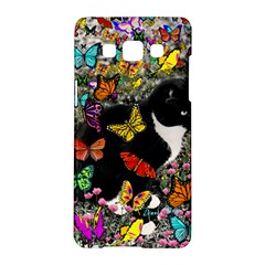 Freckles In Butterflies I, Black White Tux Cat Samsung Galaxy A5 Hardshell Case