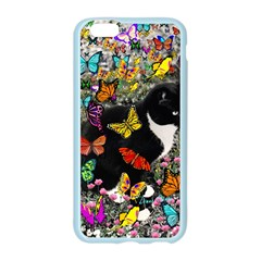 Freckles In Butterflies I, Black White Tux Cat Apple Seamless iPhone 6/6S Case (Color)