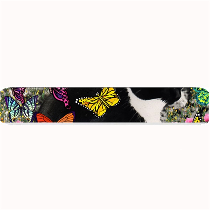 Freckles In Butterflies I, Black White Tux Cat Small Bar Mats