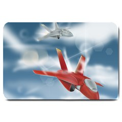America Jet fighter Air Force Large Door Mat