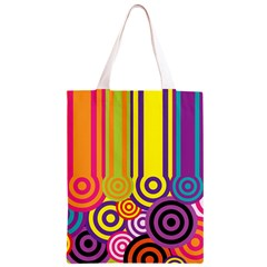 Retro Circles Classic Light Tote Bag