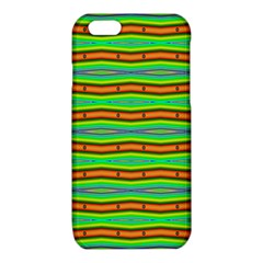 Bright Green Orange Lines Stripes iPhone 6/6S TPU Case