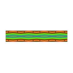 Bright Green Orange Lines Stripes Flano Scarf (Mini)
