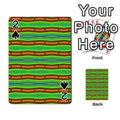 Bright Green Orange Lines Stripes Playing Cards 54 Designs