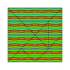 Bright Green Orange Lines Stripes Acrylic Tangram Puzzle (6  x 6 )