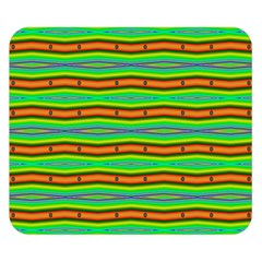 Bright Green Orange Lines Stripes Double Sided Flano Blanket (Small)