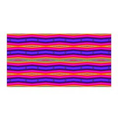 Bright Pink Purple Lines Stripes Satin Wrap