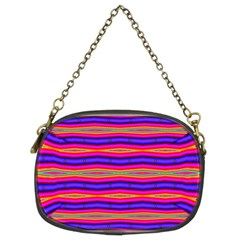 Bright Pink Purple Lines Stripes Chain Purses (Two Sides)