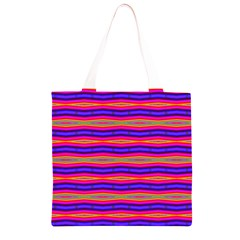 Bright Pink Purple Lines Stripes Grocery Light Tote Bag