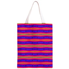 Bright Pink Purple Lines Stripes Classic Light Tote Bag