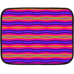 Bright Pink Purple Lines Stripes Double Sided Fleece Blanket (Mini)